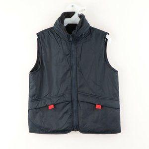 Vtg Ralph Lauren Fleece Lined Hooded Puffer Vest